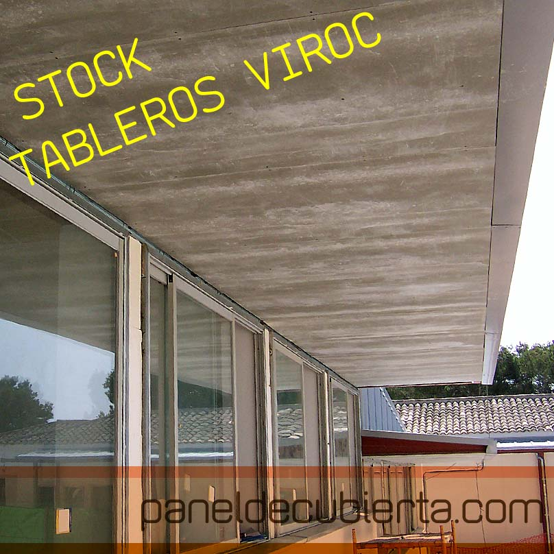 Cubiertas y Tejados de Viroc. Montadores. Oferta de tableros de Viroc 2,40x0,55.
