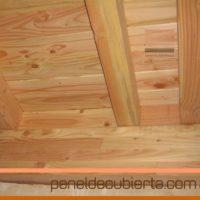 Estrutura de madera y panel de madera para cubierta