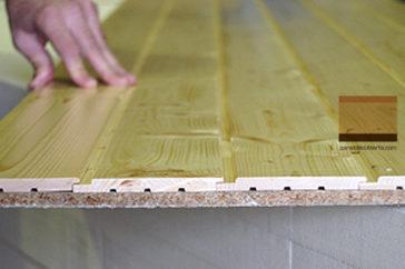Nuevo panel de madera BICAPA para forjado perdido decorativo. www.paneldecubierta.com.