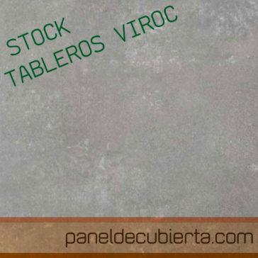 Oferta Viroc. Stock de tableros Viroc 2,40x0,55.Varios grosores.