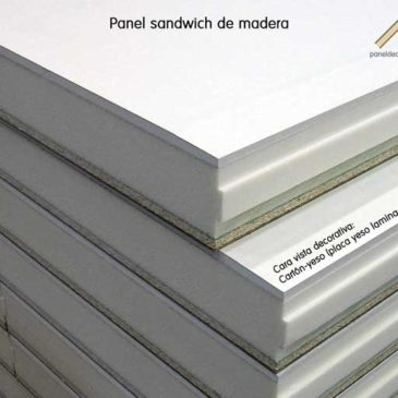 Panel sandwich acabado decorativo cartón yeso knauf
