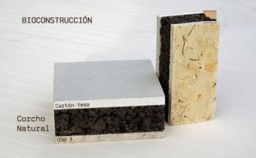 Panel de madera para bioconstrucción. Acabado decorativo placa de yeso laminada (cartón-yeso).