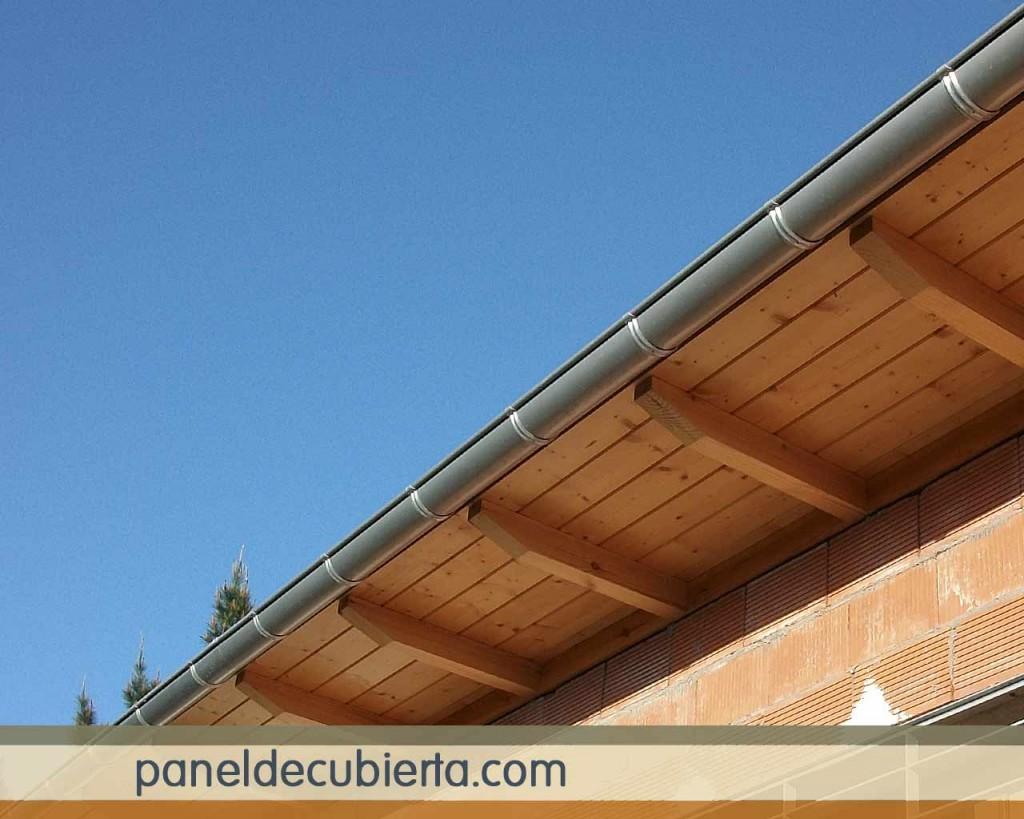 Panel sandwich friso abeto para tejados for Tejados de madera en leon