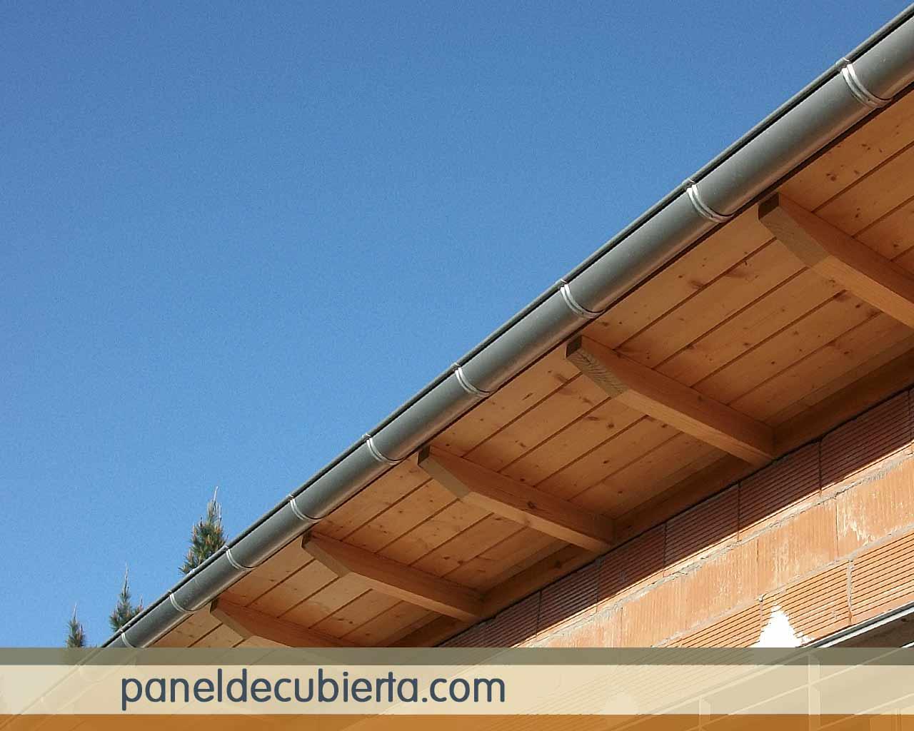 Panel sandwich friso abeto para tejados - Panel sandwich de madera ...
