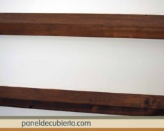 Panel sandwich de madera acabado decorativo cartón yeso knauf.