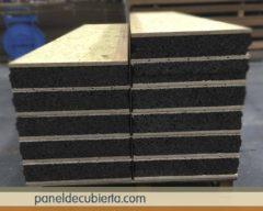 Panel sandwich para bioconstrucción con núcleo de corcho natural sin compuestos químicos de 100 mm.
