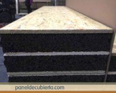 Panel sandwich recomendado para bioconstrucción con núcleo de corcho natural sin compuestos químicos.
