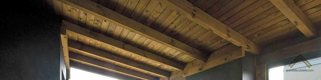 Panel sandwich de madera para cubierta.
