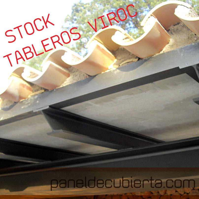 Tablero de Viroc para forjado de cubiertas. Stock Viroc. 2,40x0,55.