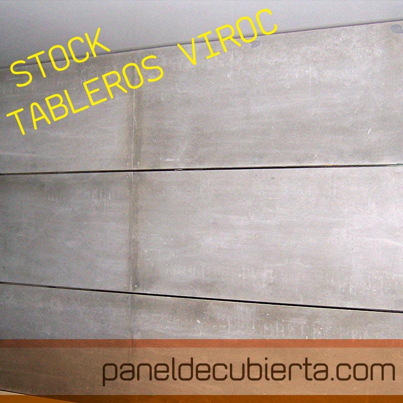 Viroc para tabiques y trasdosados. Stock de paneles viroc 2,40x0,55.