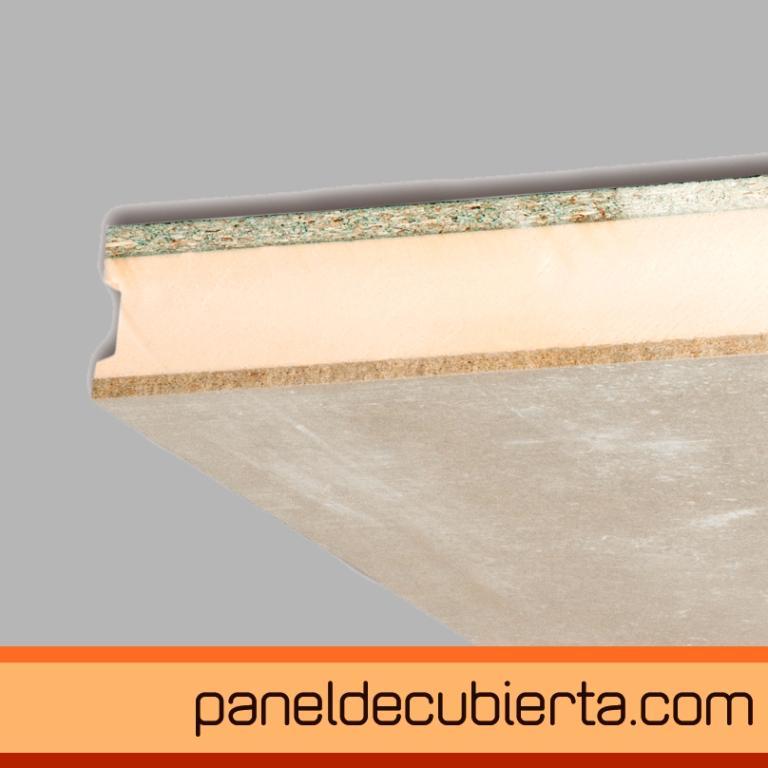 panel de cubierta cemento madera XPS aglomerado hidrofugo