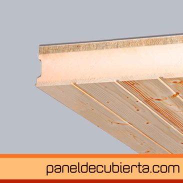 panel de cubierta friso abeto  XPS cemento madera