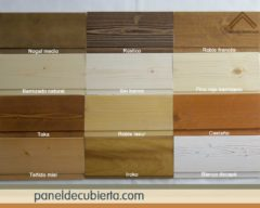 Colores de frisos de paneles de madera para cubierta.