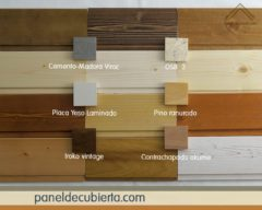Colores de madera de paneles de cubierta.