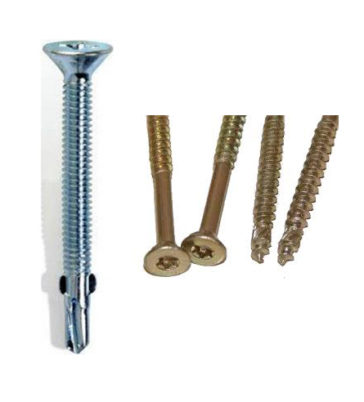 Dos tipos de tornillos madera madera y madera metal para panel de madera para cubierta paneldecubierta.com