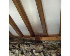 Ejecución de cubierta con paneles de madera con núcleo aislante y acabado decorativo cartón yeso PYL knauf para Restaurante La Tercia, Villarejo de Salvanés.