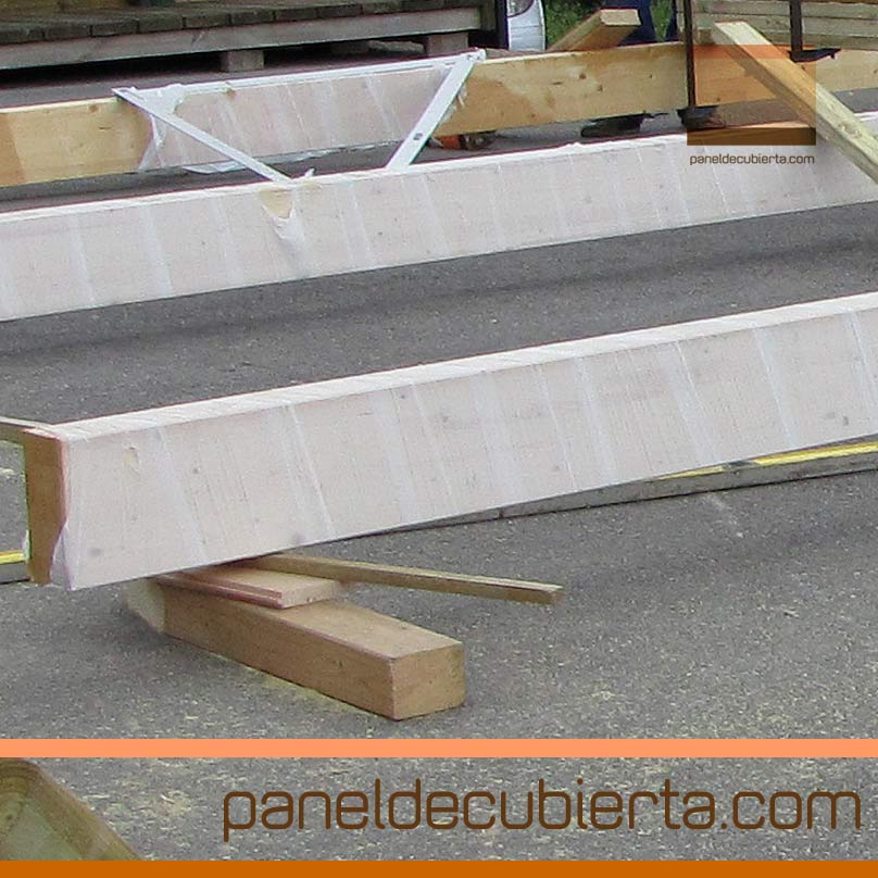 Envolvente pl stica de vigas laminadas para panel de madera - Laminas de madera para pared ...