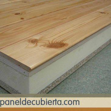 Panel sandwich acabado en madera pino rojo