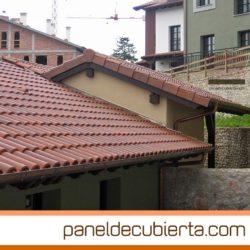 Paneles de madera para tejados y cubiertas for Tejados de madera con teja
