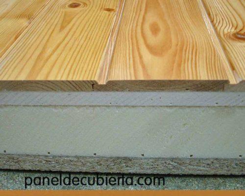 Panel acabado madera pino rojo.