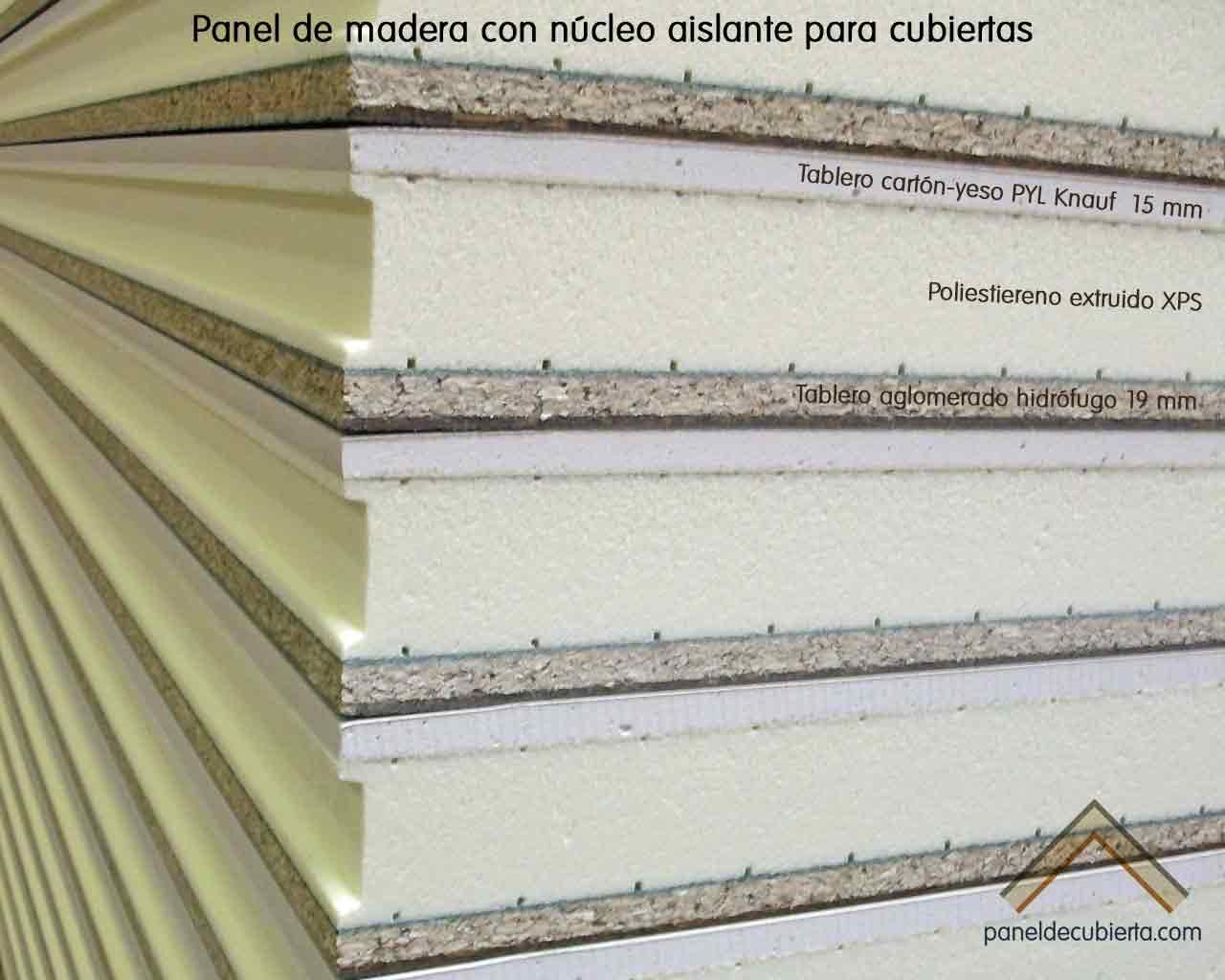 Panel de madera acabado cart n yeso - Tablero aglomerado hidrofugo ...