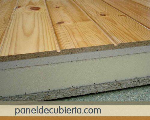 Panel de madera pino rojo.