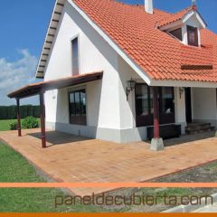 Reforma de cubierta y ampliación de vivienda con panel de madera para cubiertas.