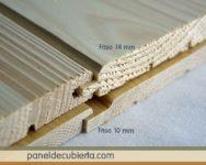 Grosores de friso madera.