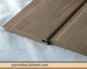 Moldura machihembrada de friso de madera.