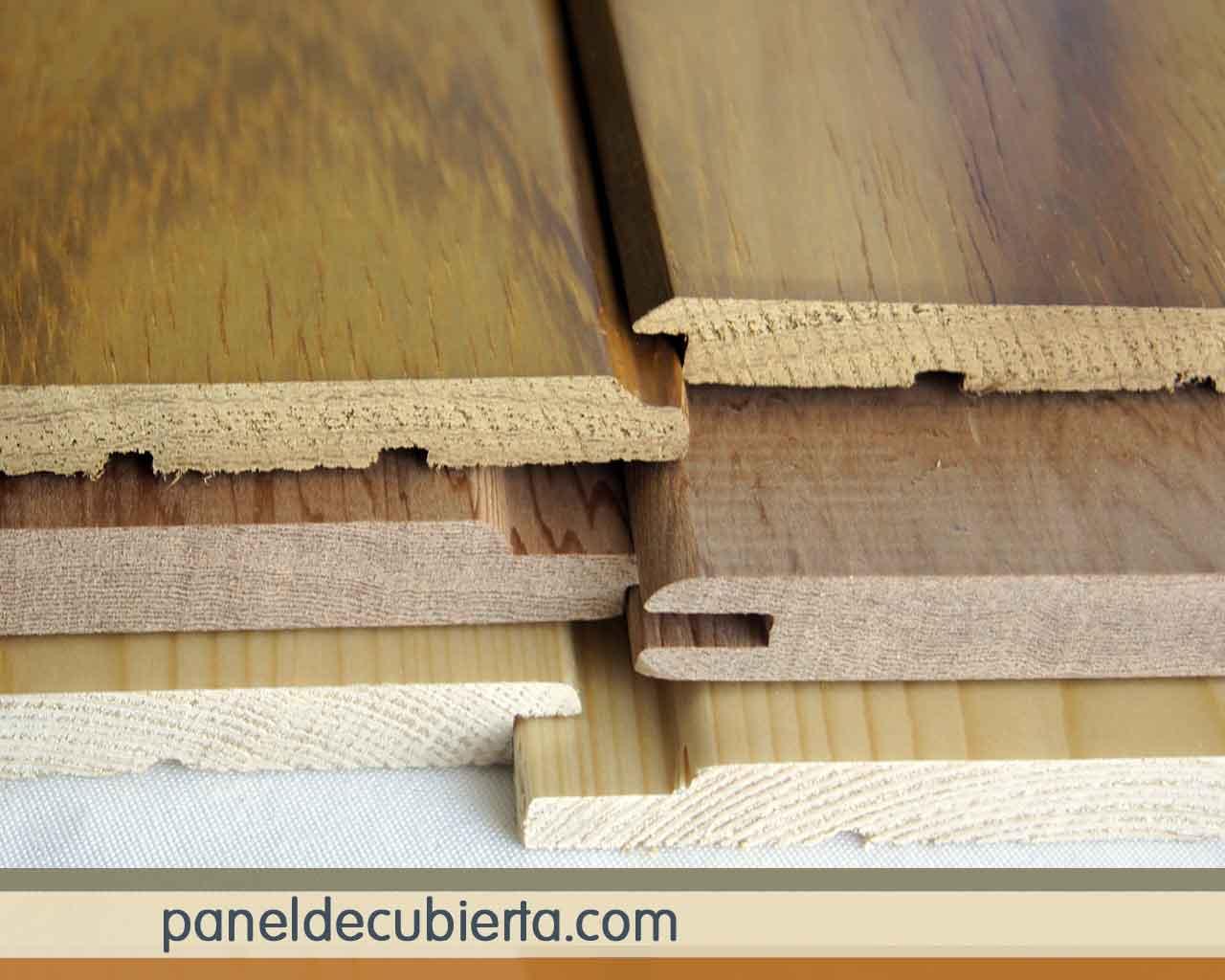 Tipos de molduras de friso de madera.