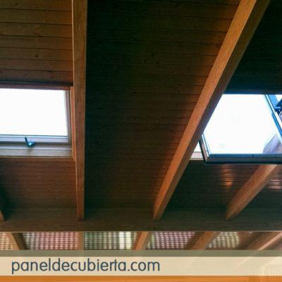 El mejor precio m2 panel sandwich de madera para cubiertas. Panel friso Madrid.