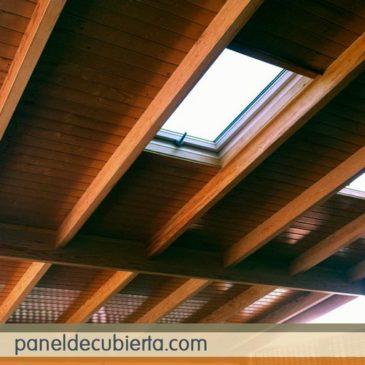 Fotos paneles para tejados. Precio panel de madera para cubiertas en Madrid.