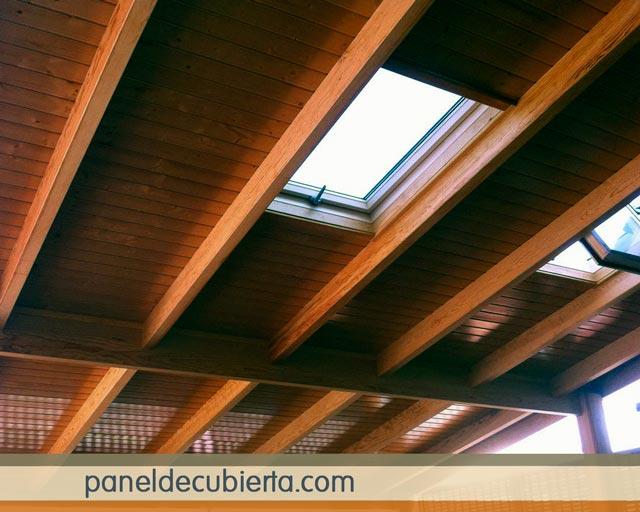 Fotos paneles para tejados for Tejados de madera modernos