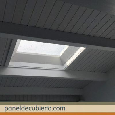 Moderno material de cubiertas. Panel de madera para cubiertas y tejados Madrid.