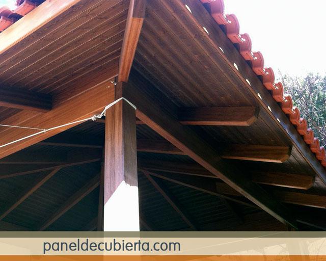 Precio m2 panel de madera para cubiertas y tejados madrid for Tejado sandwich precio