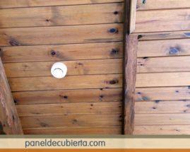 Preciosa decoración rústica moderna panel de madera para tejados Madrid. Fotos de techos de madera rústicos con aislamiento térmico.