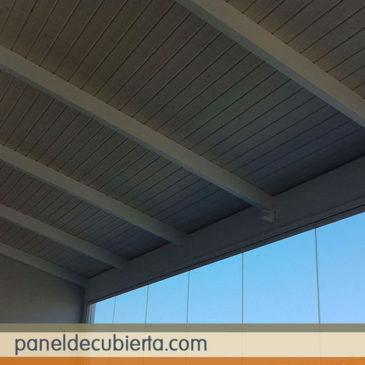 Precioso panel de madera terrazas y porches.