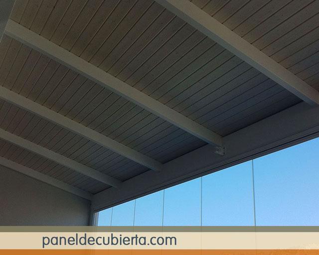 Los m s bonitos paneles decorativos de madera abeto blanco - Techos decorativos de madera ...