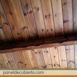 Preciosos techos de madera interiores en panel abeto