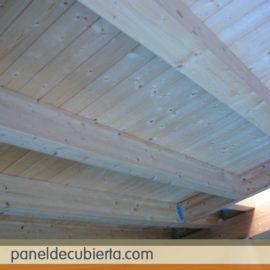 Panel cubierta madera