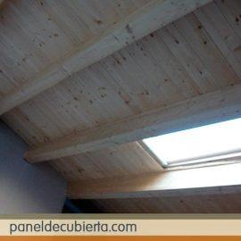 Tejado panel madera.