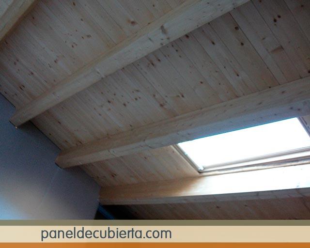 Panel madera sin barniz para tejados y cubiertas for Tejado de madera madrid
