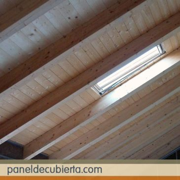 Panel madera cubiertas