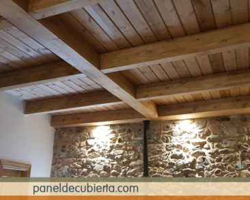 Entreplanta friso madera.