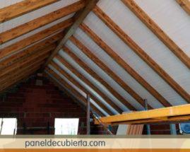 Hacer techo madera blanco.
