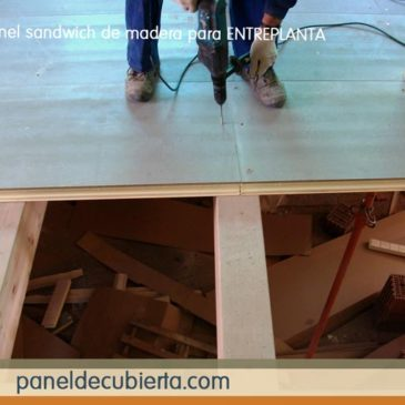 Abeto madera panel entreplanta montaje.