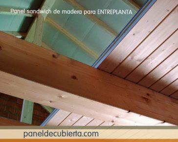 Colocación panel entreplanta madera.