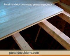 Madera panel entreplanta rápido ligero.