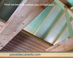 Panel entreplanta aislamiento madera.