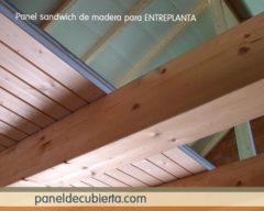 Panel entreplanta madera ligero.